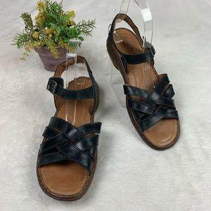 Josef Seibel Women's Buckle Ankle Strap Sandals